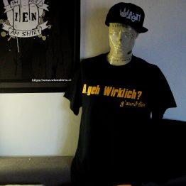 A.geh T-Shirt schwarz