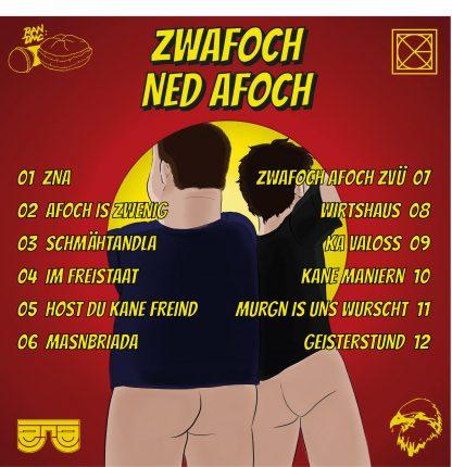 ZNA - zwafoch ned afoch Back Cover